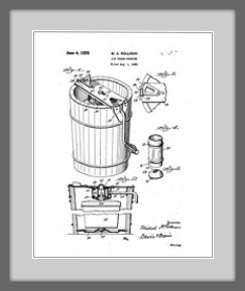 ice cream freezer patent drawing